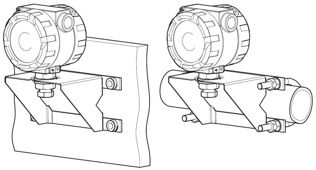 Рисунок 9. Варианты крепления измерительного модуля