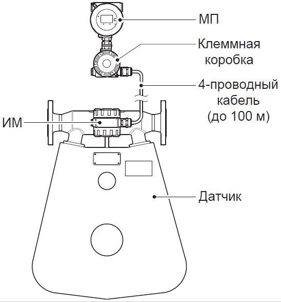 Рисунок 5. Выносное исполнение расходомера